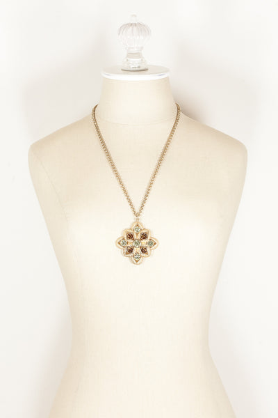 70's__Sarah Coventry__Bold Pendant Necklace