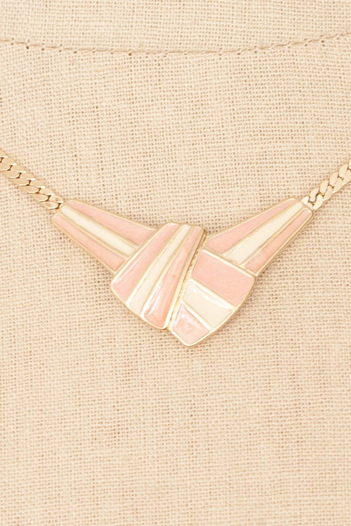 80's__Trifari__Enameled Pendant Necklace