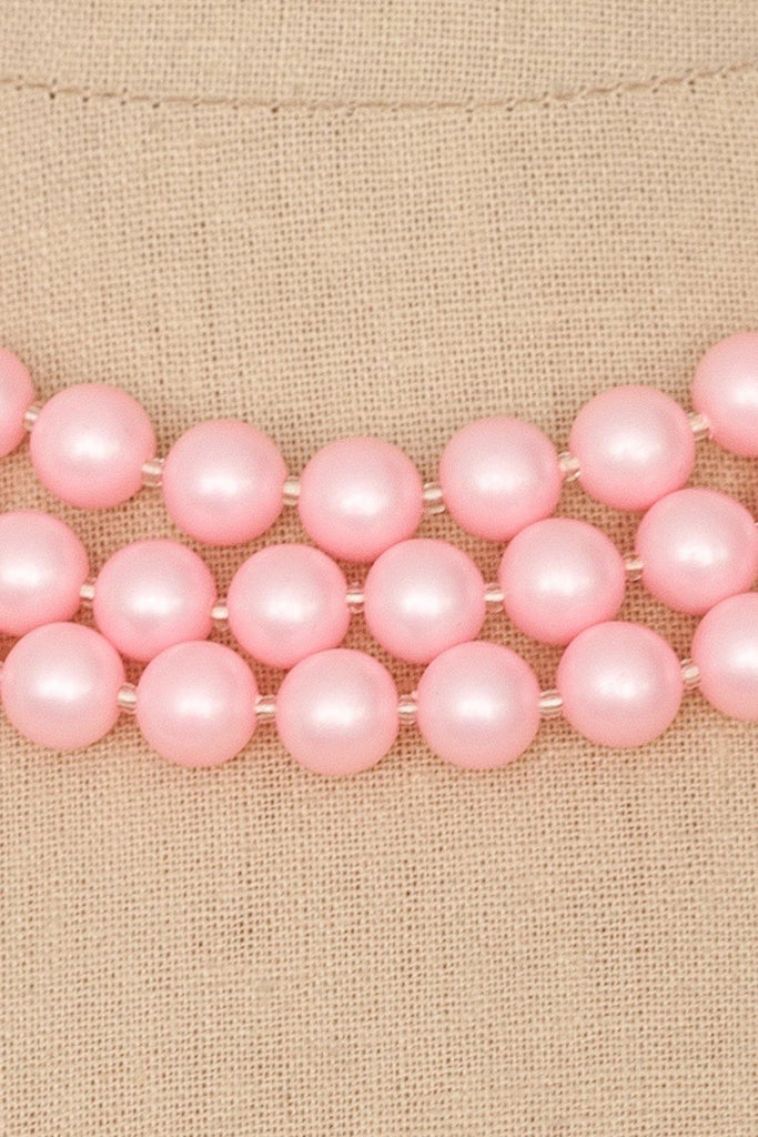 50's__Vintage__Pink Pearl Necklace