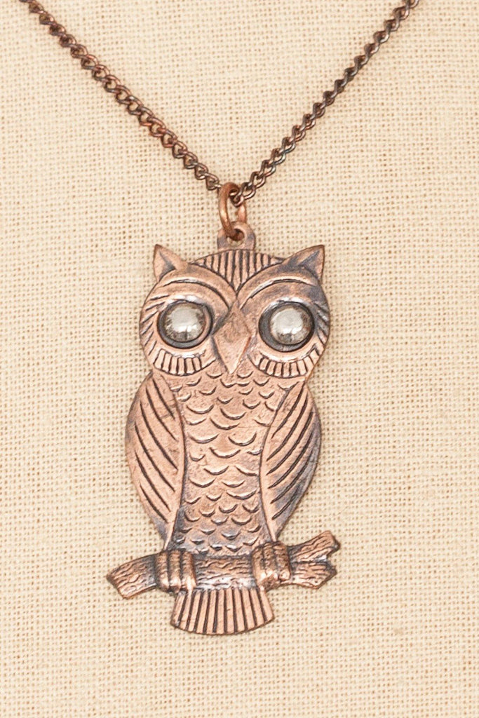 70's__Vintage__Owl Pendant Necklace