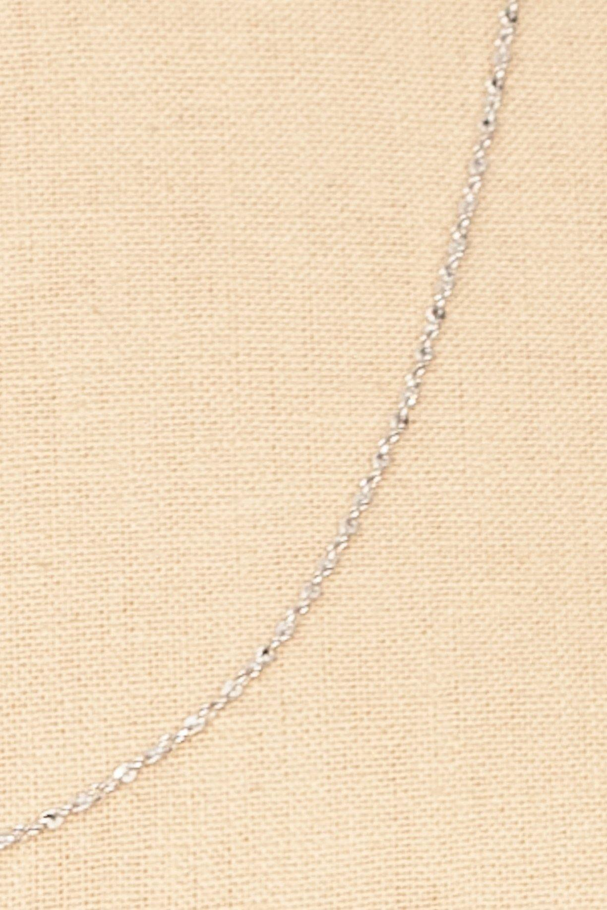 70's__Monet__Dainty Silver Necklace
