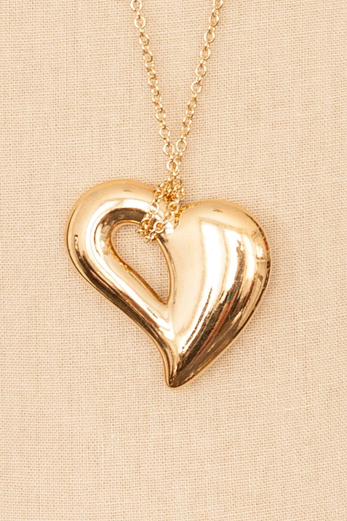 80's__Avon__Heart Pendant Necklace