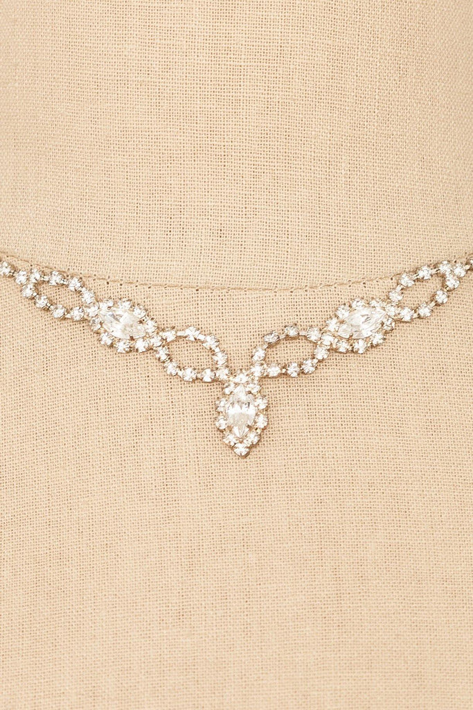 50's__Vintage__Simple Rhinestone Drop Choker