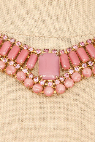 50's__Vintage__Rhinestone Statement Necklace