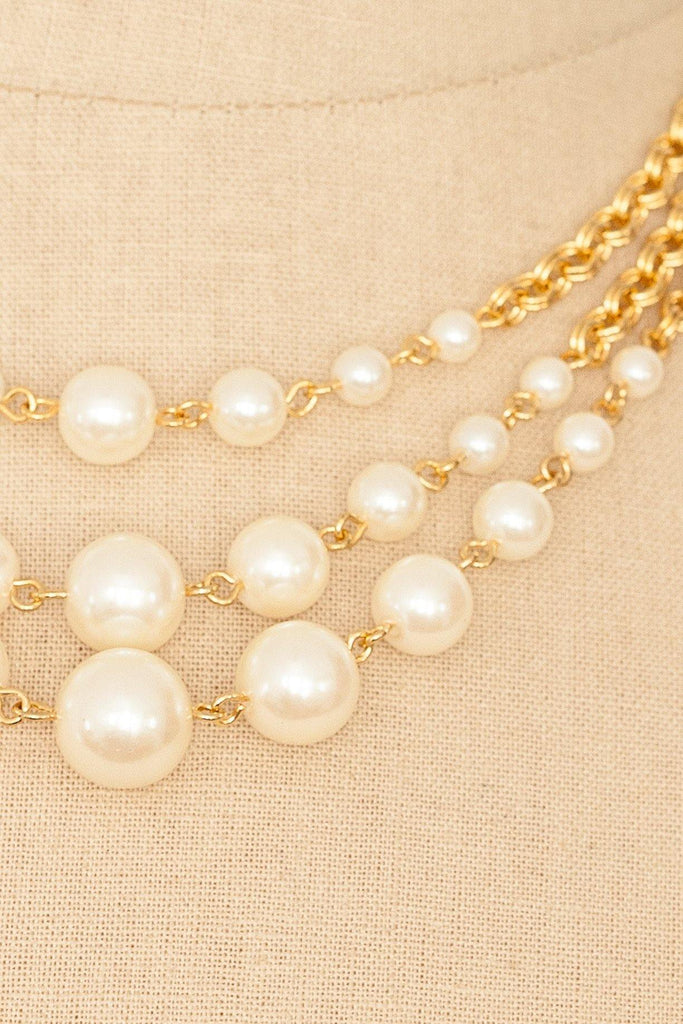 80's__Avon__Pearl Multi Strand Necklace