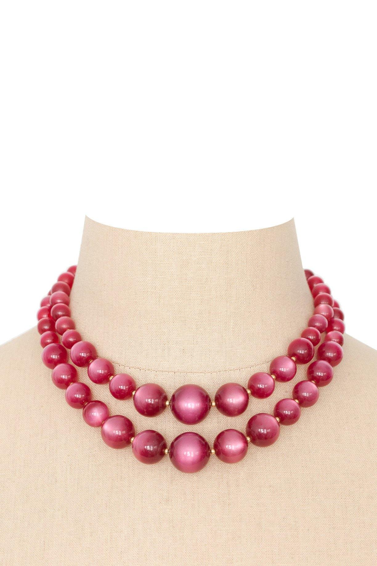 50's__Vintage__Cherry Bauble Necklace