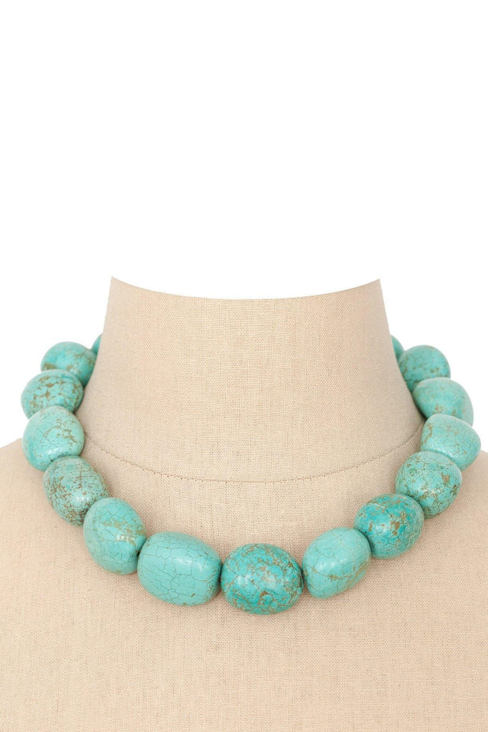 80's__Vintage__Chunky Turquoise Necklace