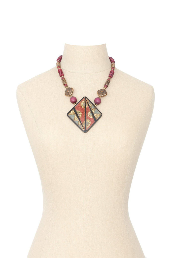 80's__Vintage__Statement Boho Necklace