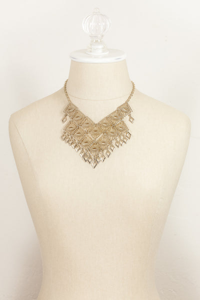 70's__Sarah Coventry__Statement Tassel Bib Necklace