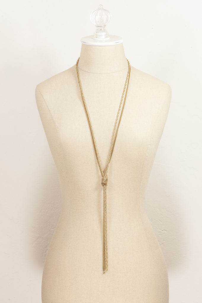 "70's__Monet__Double Chain 54"" Necklace"