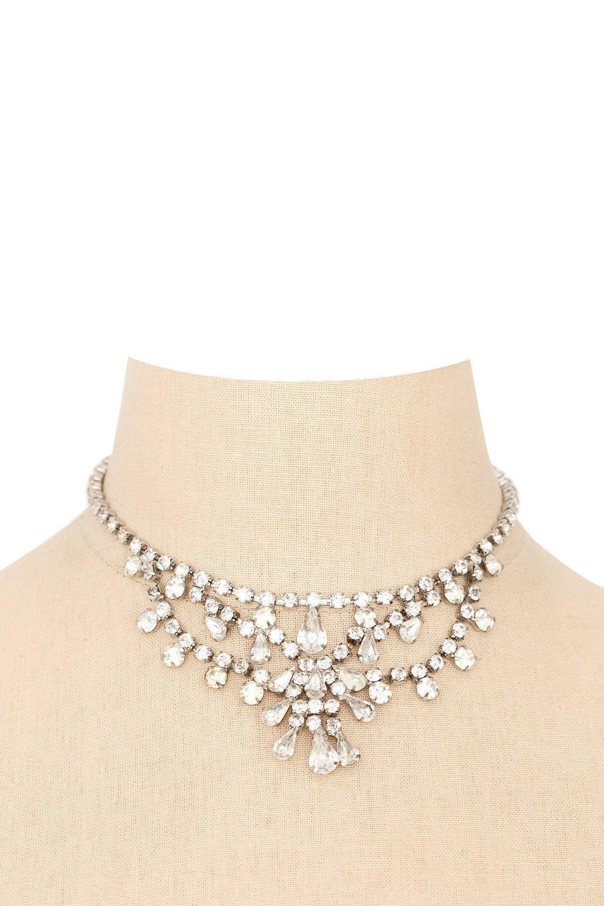 1950's Vintage Rhinestone Statement Necklace