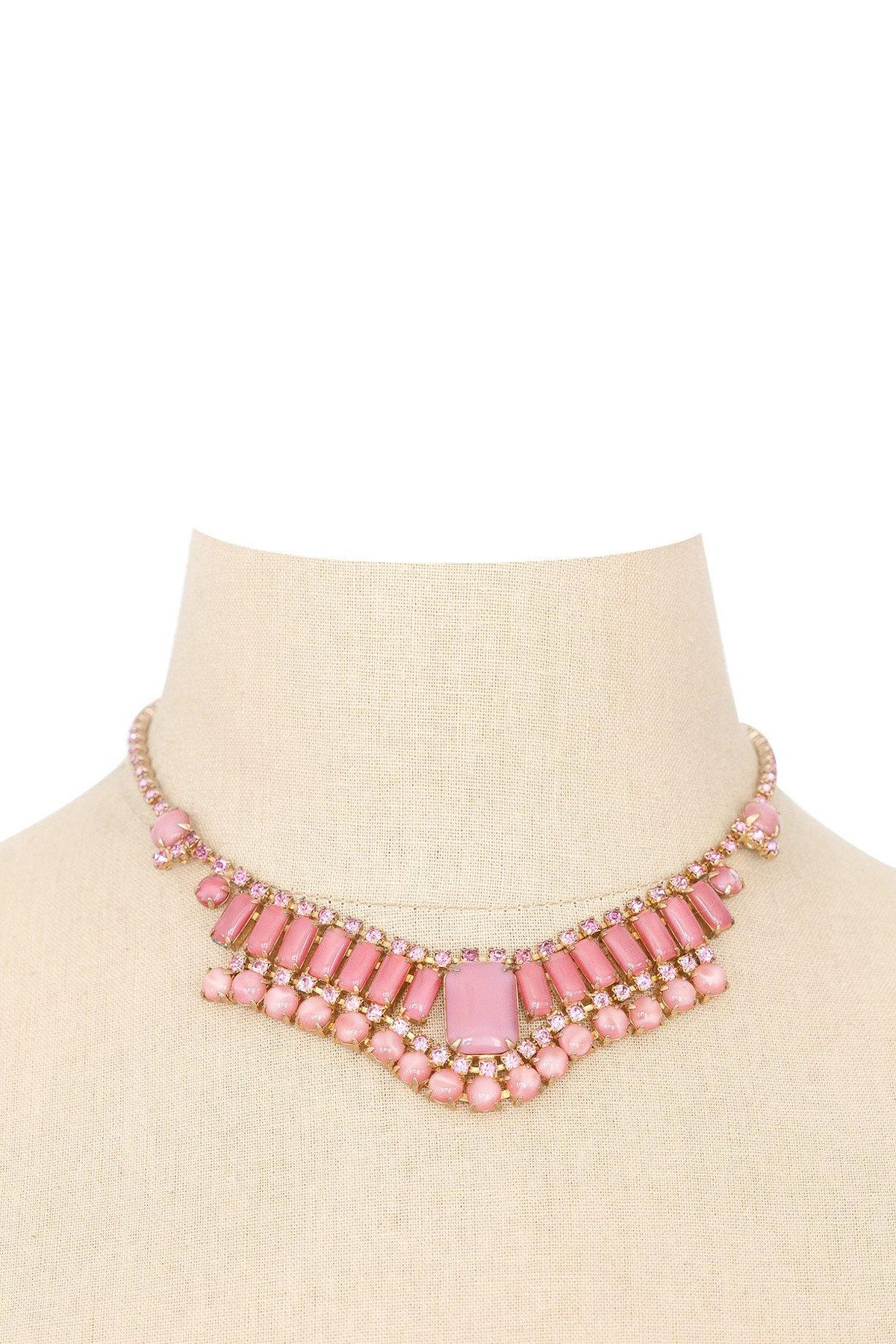 50's Vintage Rhinestone Statement Necklace
