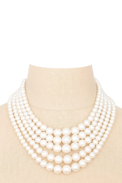50's__Vintage__Pearl Multi Strand Necklace