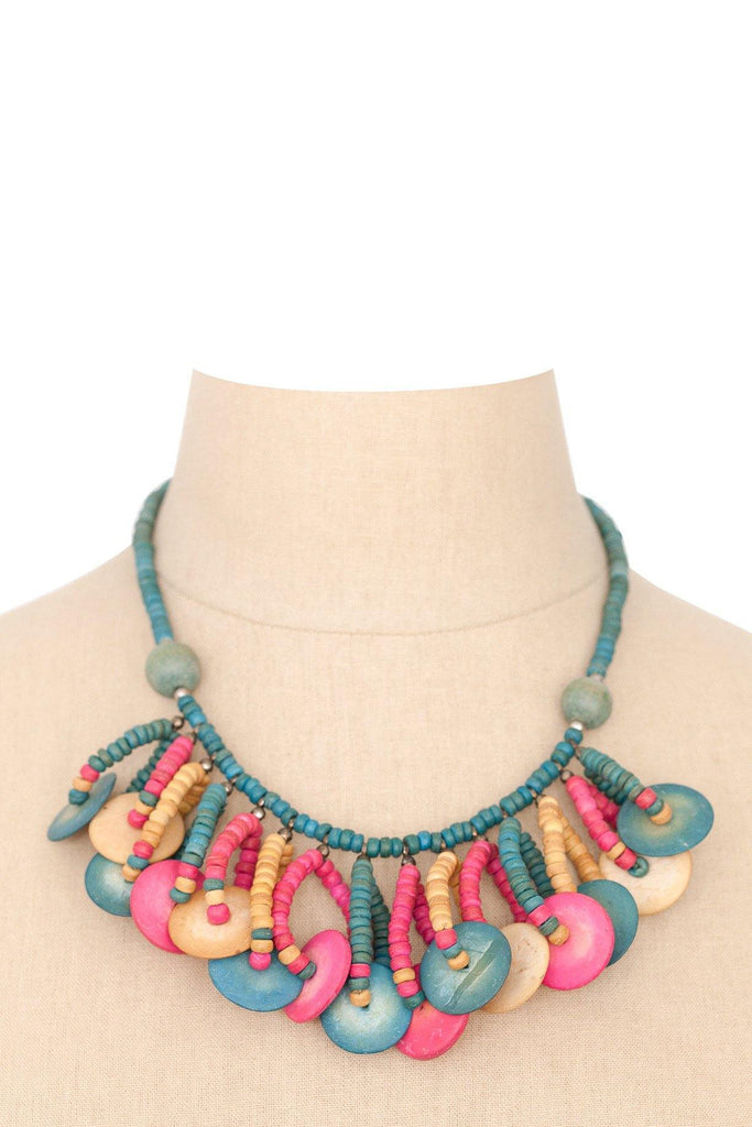 60's__Vintage__Beaded Statement Necklace