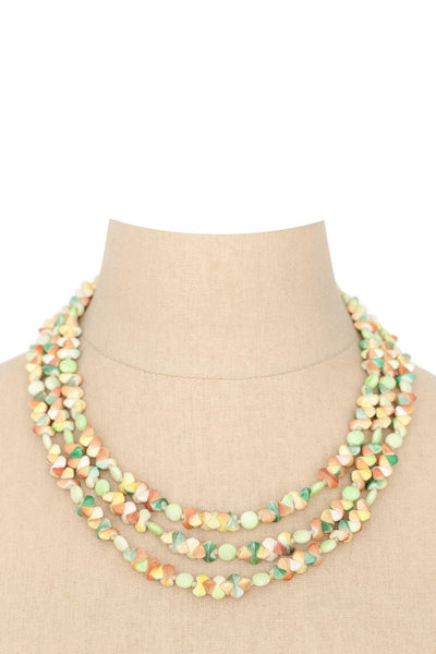 50's__Vintage__Statement Beaded Necklace