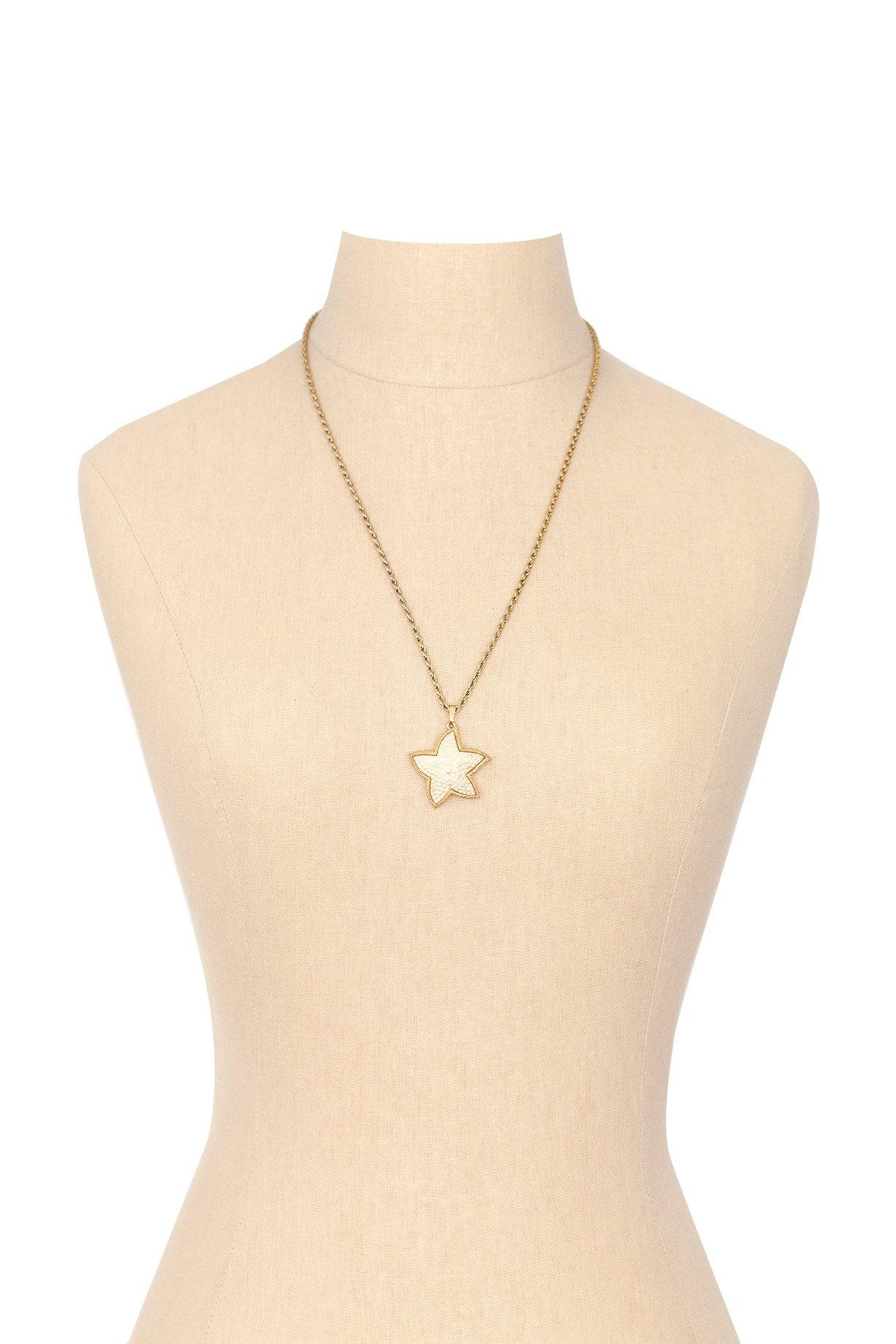 80's__Vintage__Pearl Star Pendant Necklace