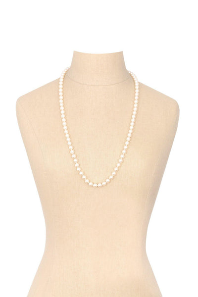 80's__Monet__Classic Pearl Necklace
