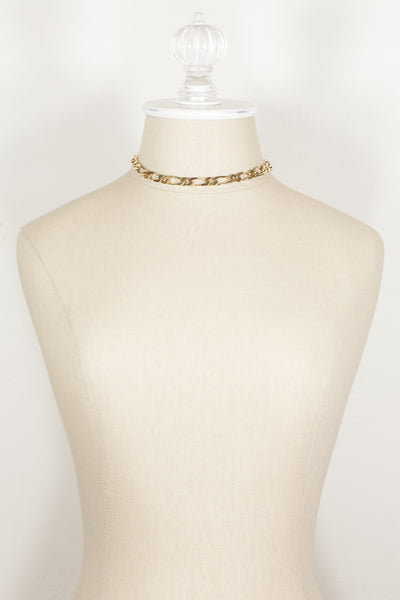 70's__Monet__Classic Flat Link Necklace