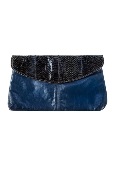 80's__Vintage__Navy & Black Clutch