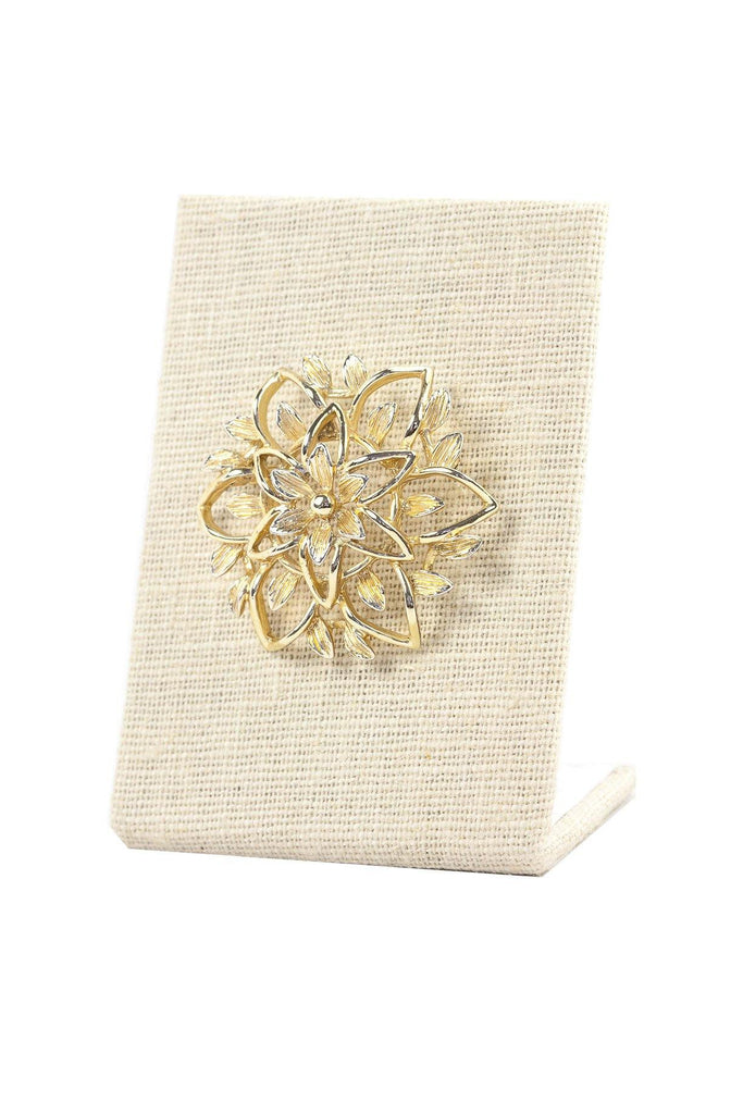 50's__Sarah Coventry__Floral Gold Brooch