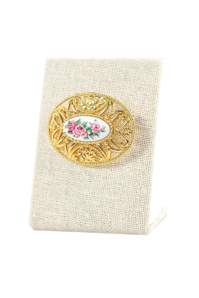 60's__Avon__Statement Floral Brooch