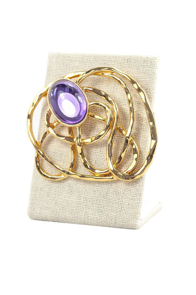 80's__Vintage__Statement Stone Brooch