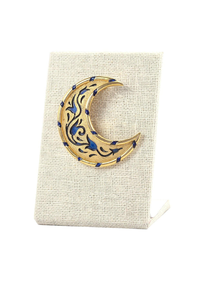 60's__Trifari__Floral Moon Brooch