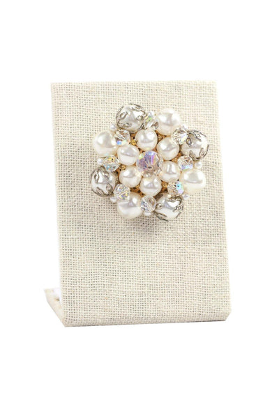 50's__Vintage__Statement Pearl Brooch