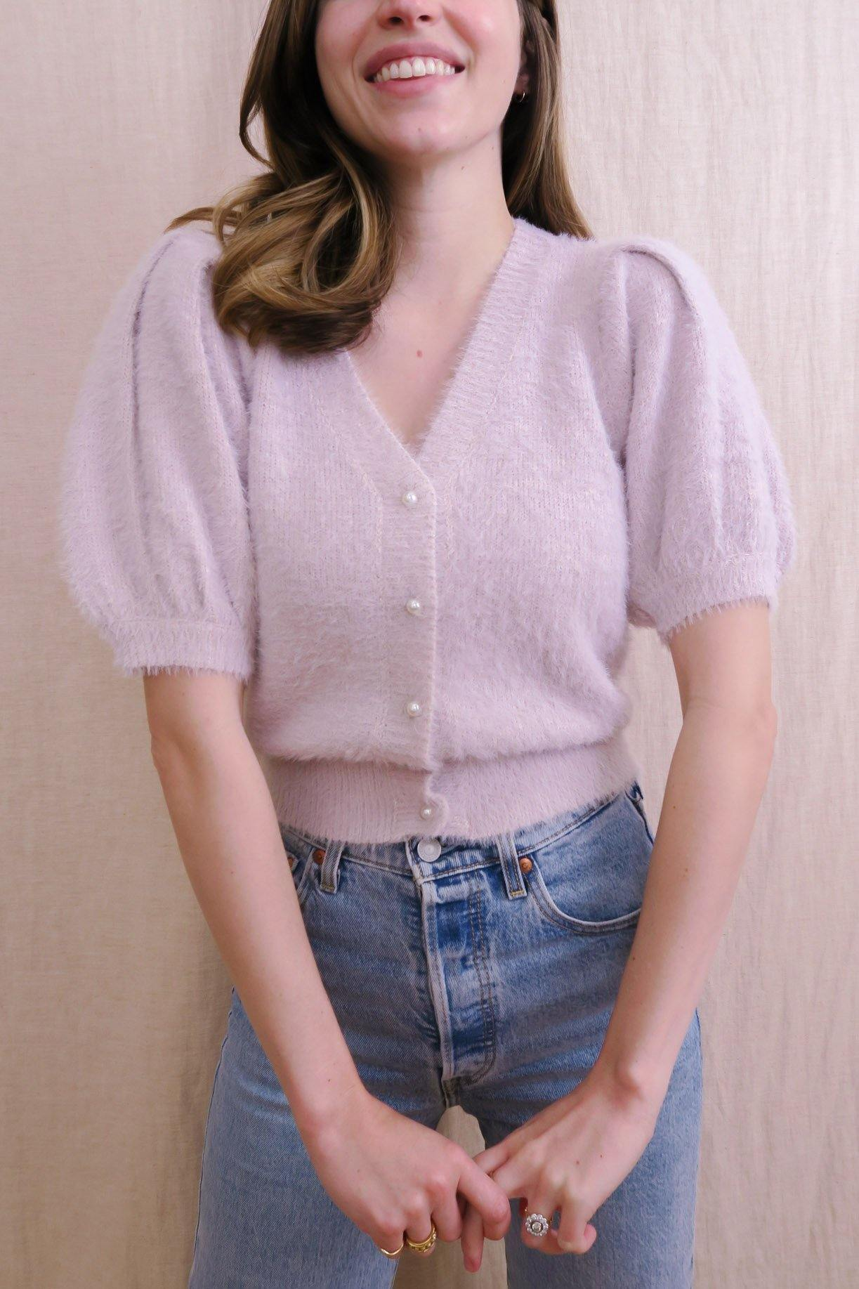 Alba Cardigan in Light Mauve