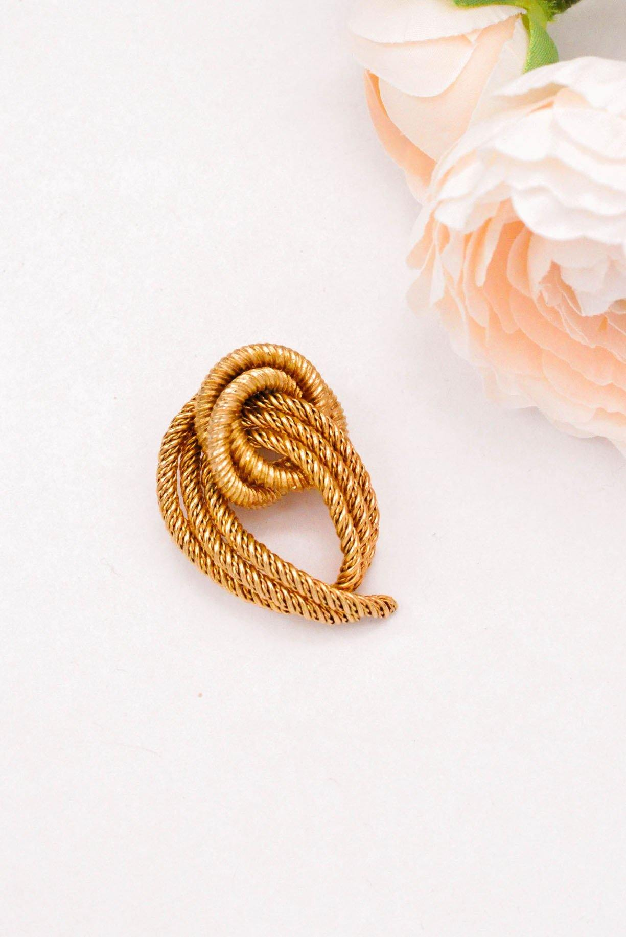 Knotted Rope Brooch