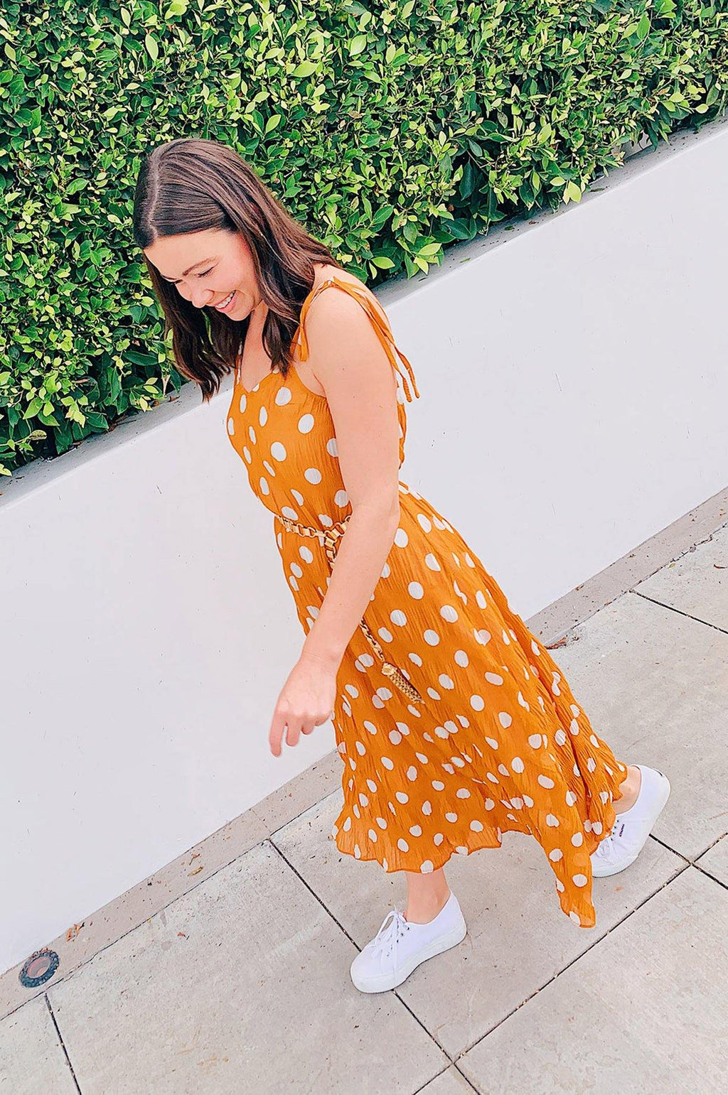 English Factory Polka Dot Maxi Dress
