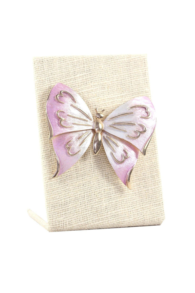 60's__Vintage__Etched Butterfly Brooch