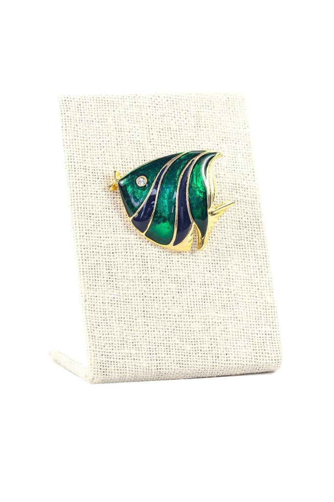 80's__Vintage__Enameled Fish Brooch