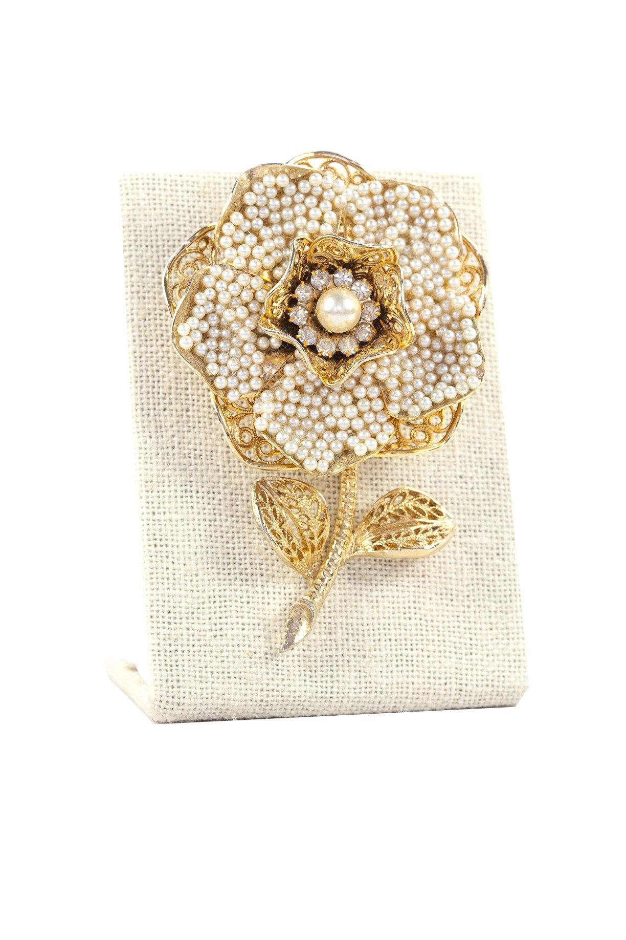 60's__Coro__Statement Floral Brooch