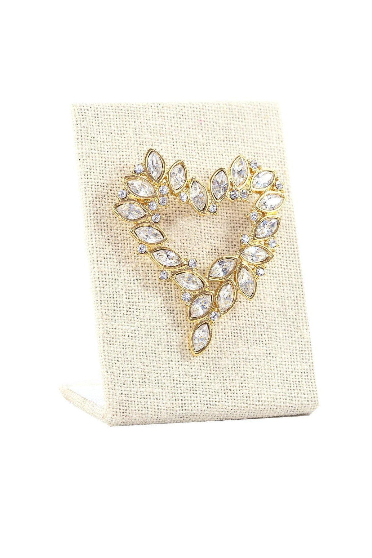 80's Monet Rhinestone Heart Brooch