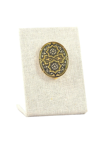 50's__Vintage__Damascene Brooch