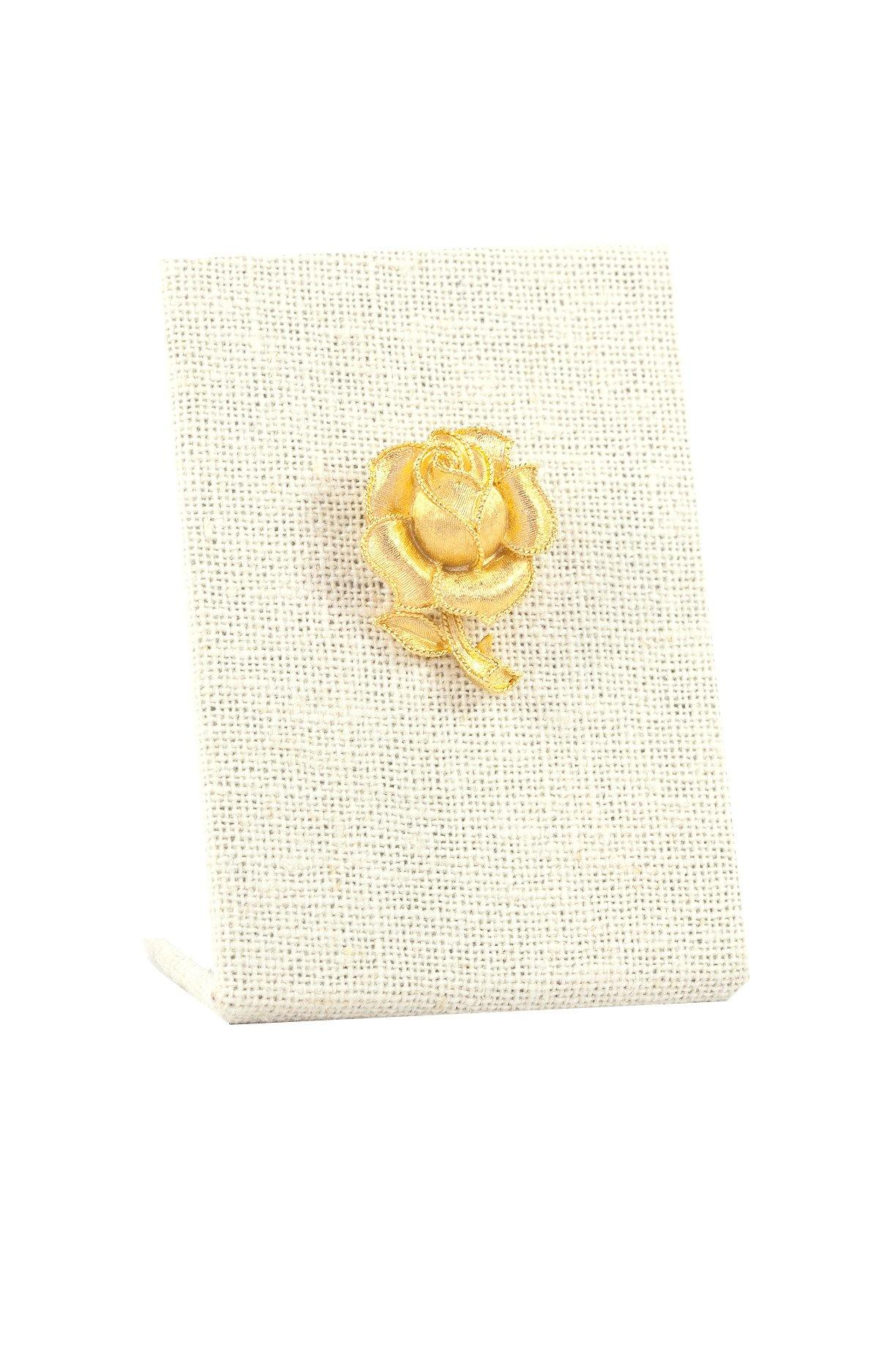 50's Trifari Etched Rose Brooch