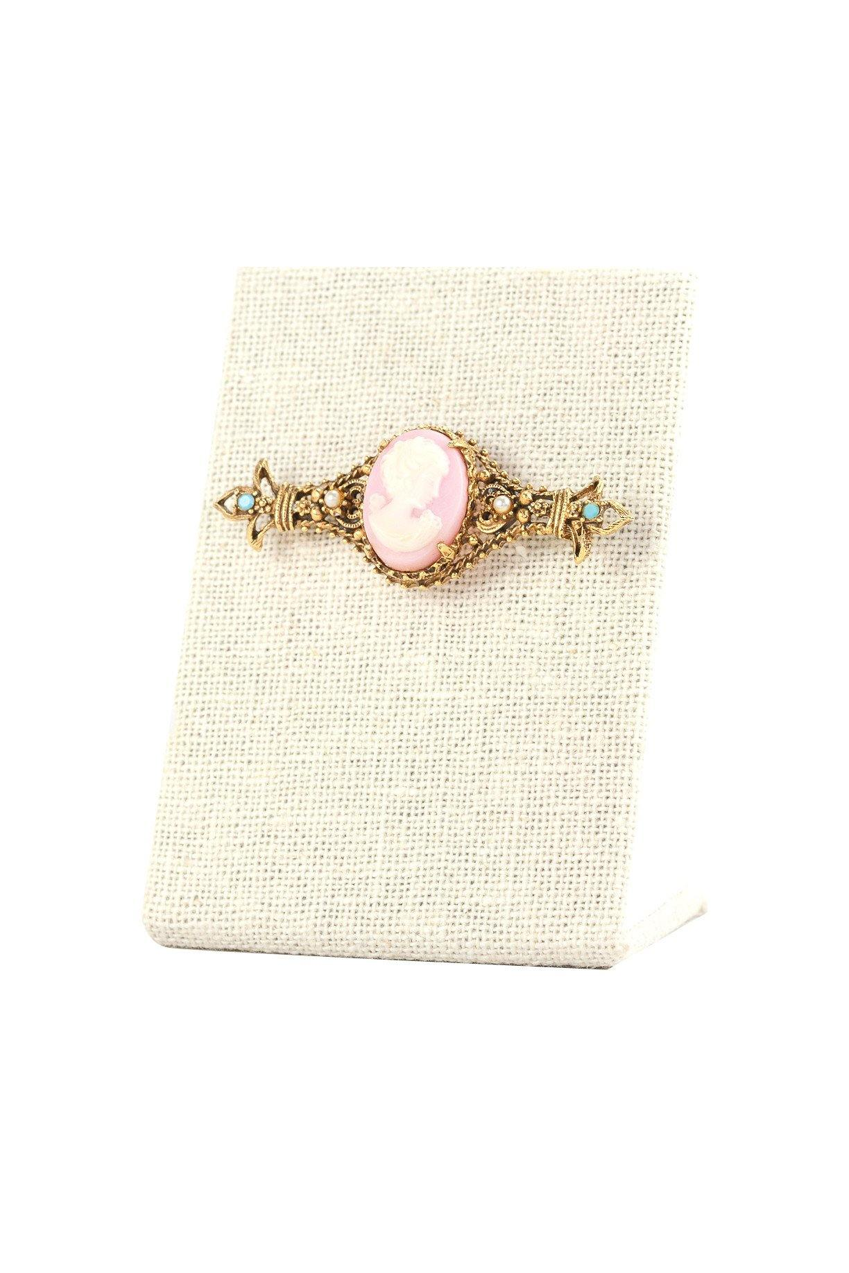 60's Vintage Cameo Statement Brooch