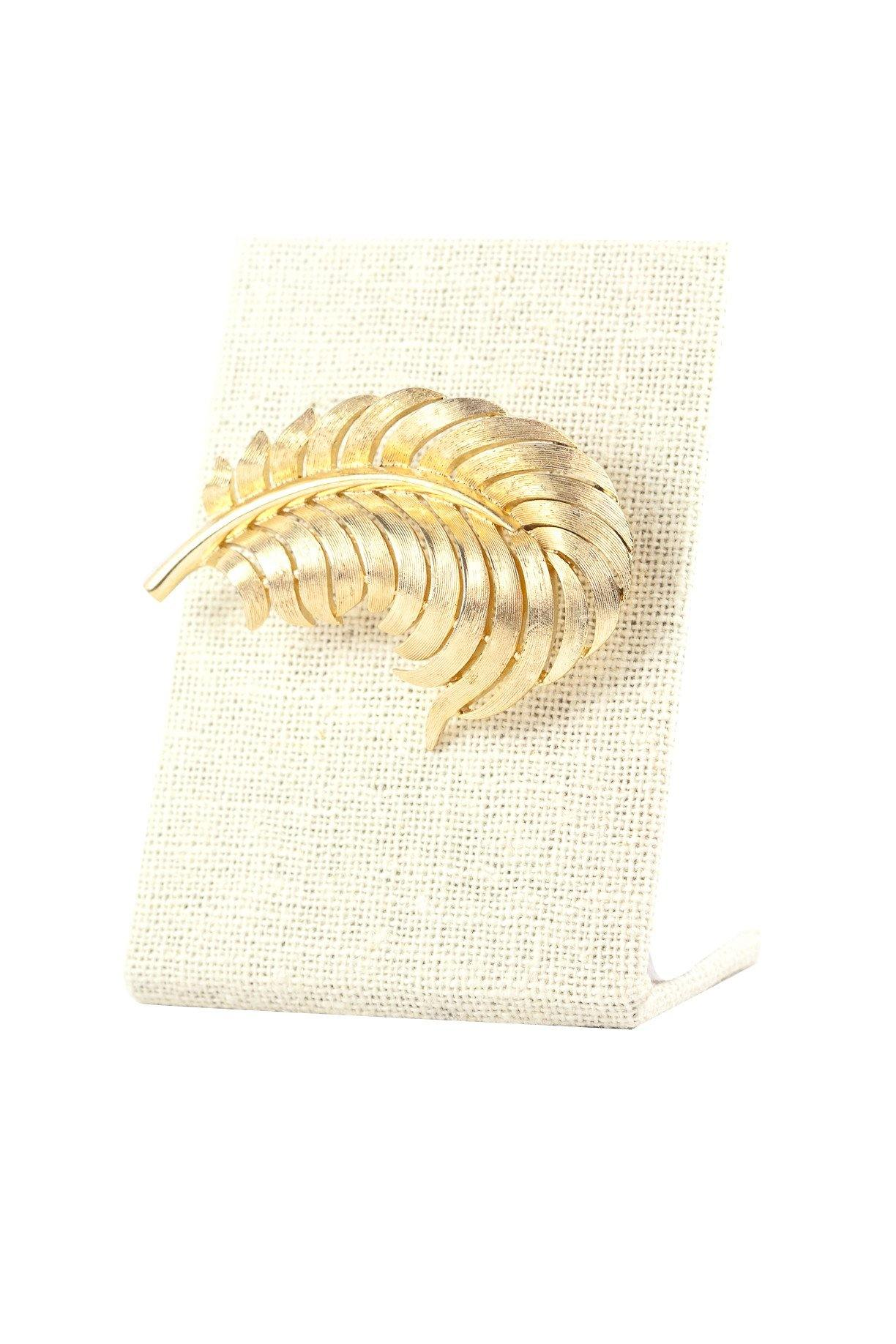 50's Trifari Leaf Brooch