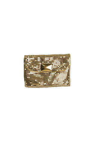 60's__Whiting Davis__Mesh Gold Pouch