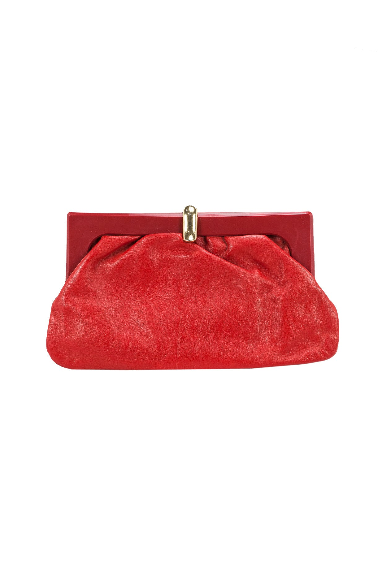 70's__Vintage__Red Leather Clutch