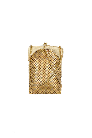 60's__Whiting Davis__Mesh Gold Tote Bag
