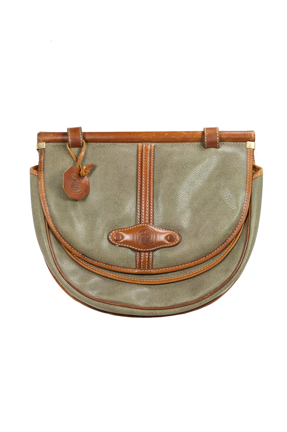 70's__Prego__Leather Crossbody Bag
