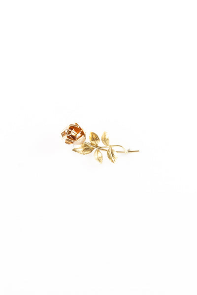 70's__Vintage__Simple Rose Brooch