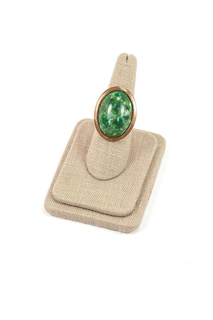 60's__Vintage__Adjustable Stone Cocktail Ring