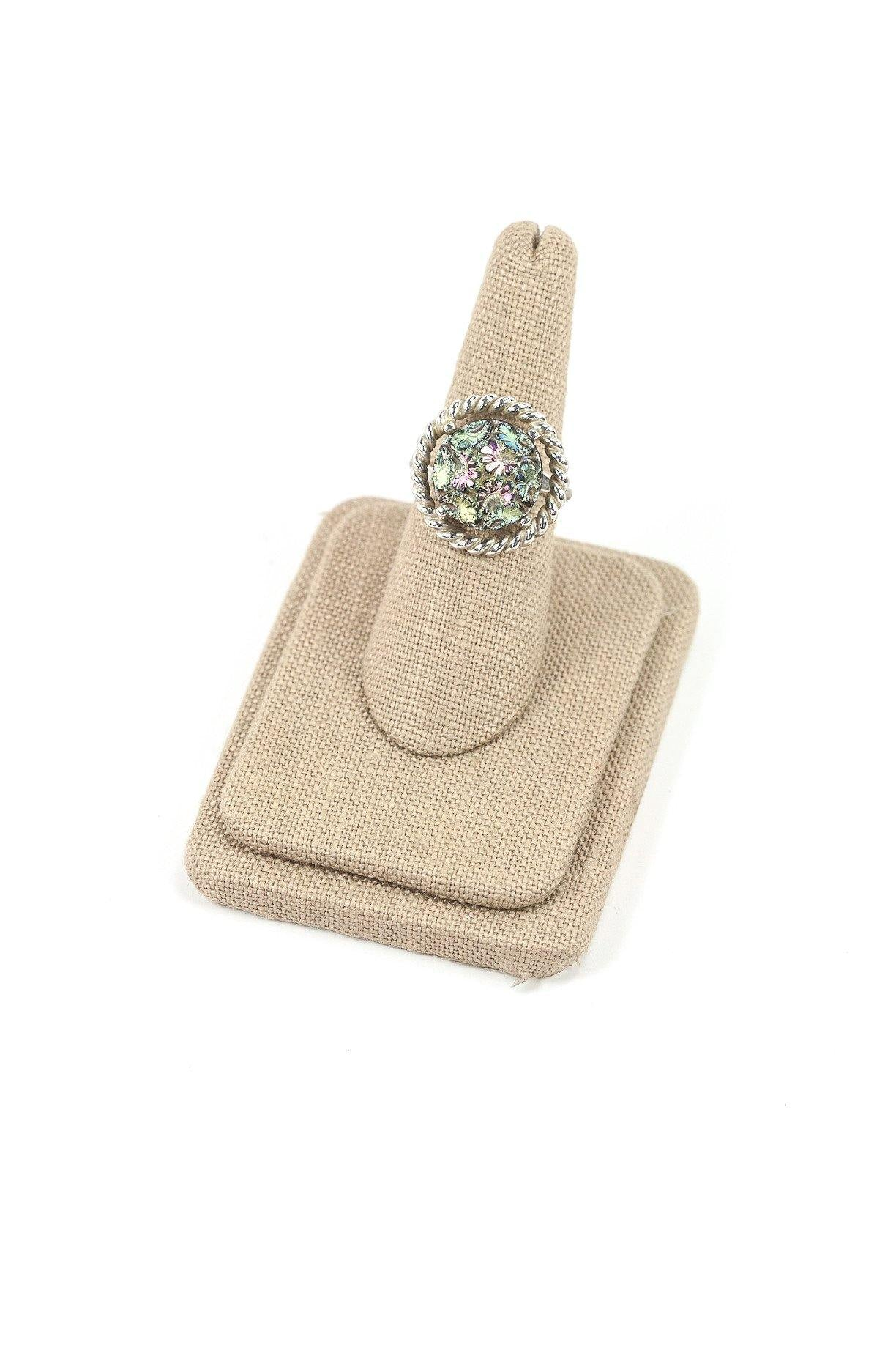 60's__Sarah Coventry__Adjustable Metallic Cocktail Ring