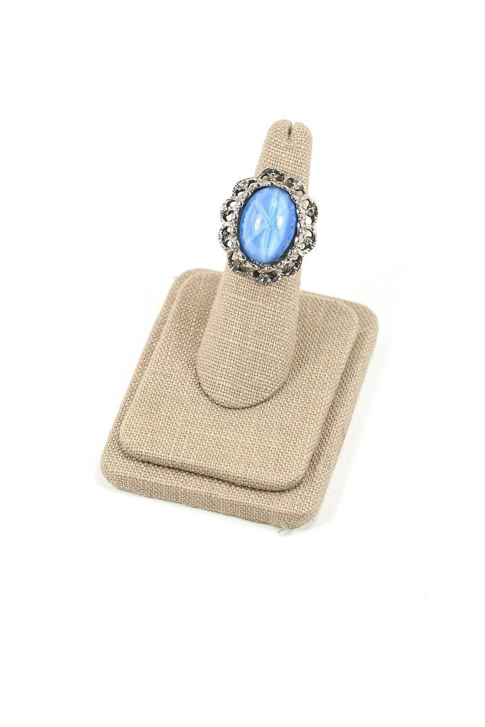 60's__Vintage__Stone Cocktail Ring sz 4 1/2 to 6
