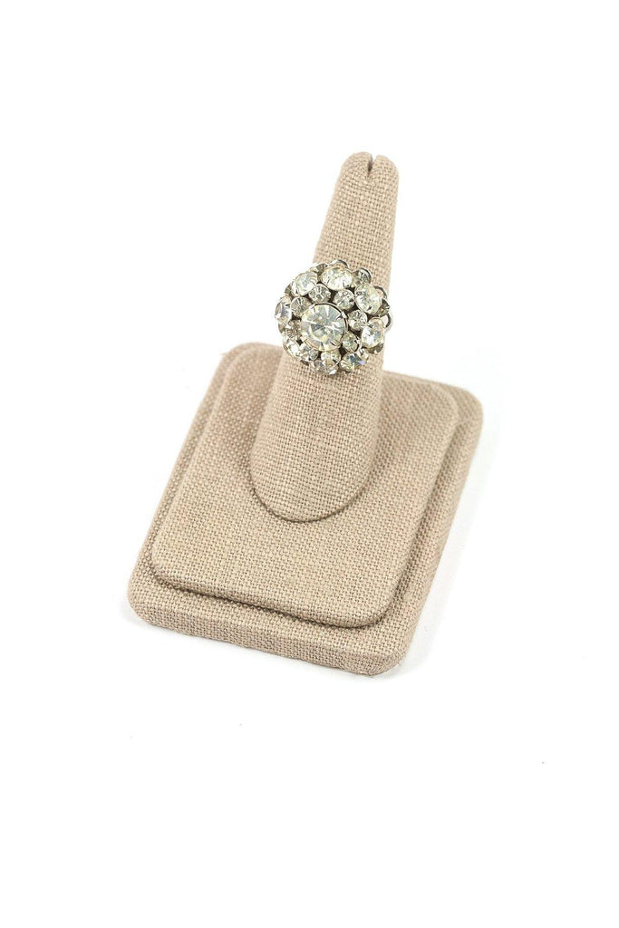 60's__Judy Lee__Adjustable Rhinestone Burst Ring