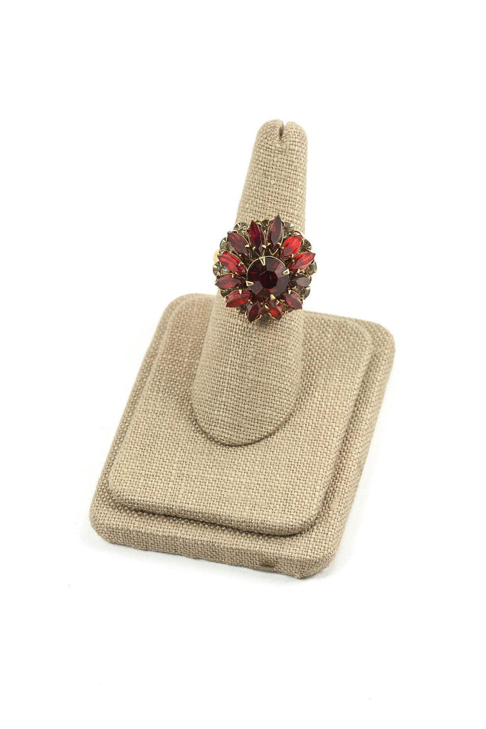 60's__Judy Lee__Rhinestone Burst Ring