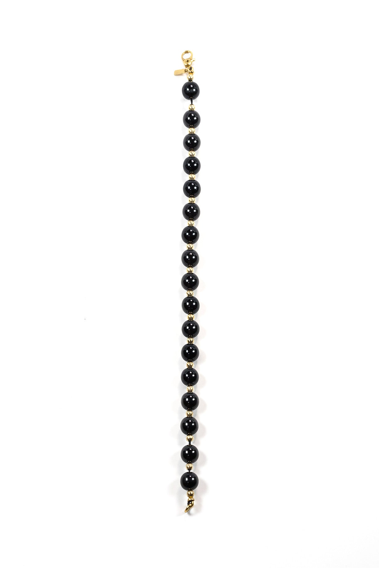 70's__Monet__Black Bead Bracelet